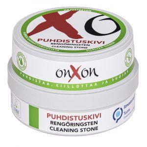 OnXOn Puhdistuskivi uudessa pakkauksessa